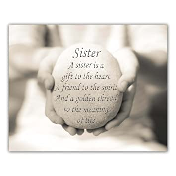 Amazoncom Sister Quote Print Sister Gift Gift For Her Sister