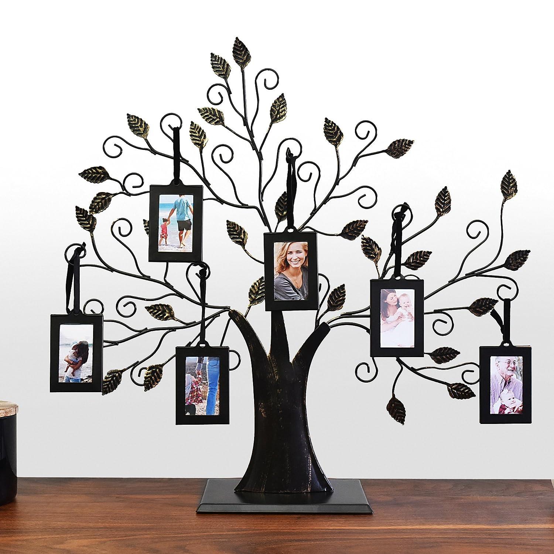 Amazon.de: Familienbaum mit 6 Bilderrahmen zum Aufhängen von ...