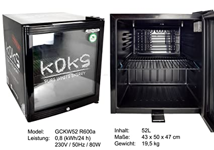 Kleiner Kühlschrank Edelstahl : Koks pure white energy mini kühlschrank kühlbox minibar baby