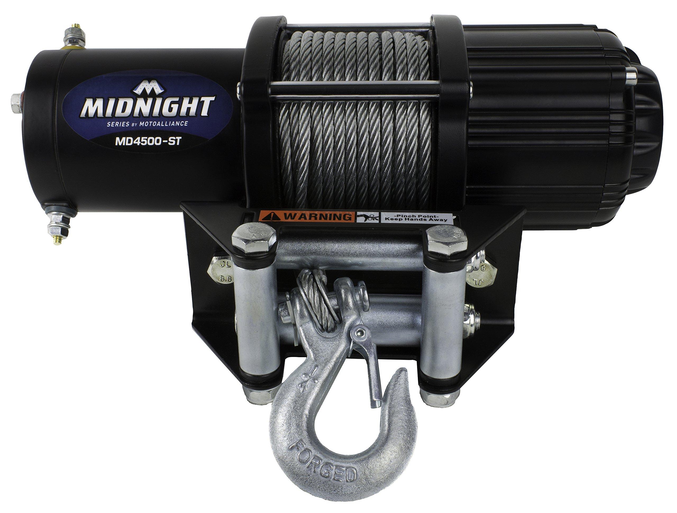 VIPER Midnight 4500lb ATV/UTV Winch Kit with 50 feet Steel Cable