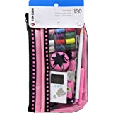 Singer Beginner's Sewing Kit, Pink/Black