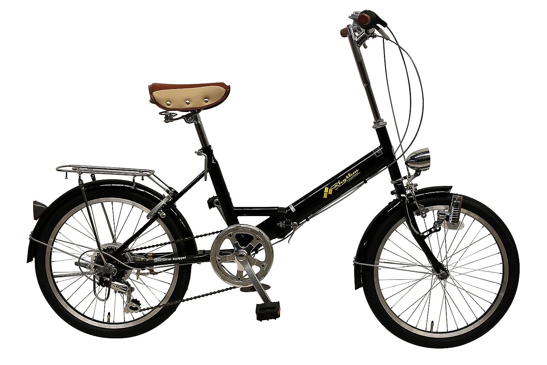 リズム(RHYTHM) 20インチ 折りたたみ自転車 シマノ6段変速 RH206CPBD-BK7 ブラック 34094.0   B01NBA0HZM