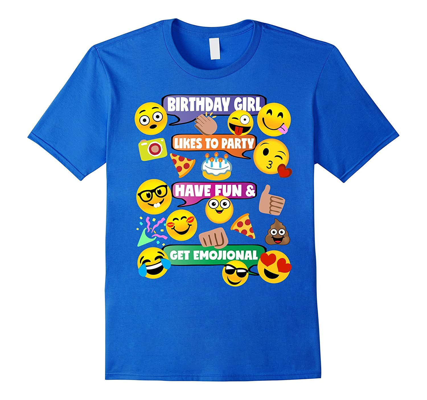 Girls Emoji Birthday Shirt Party Theme Outfit Conversation