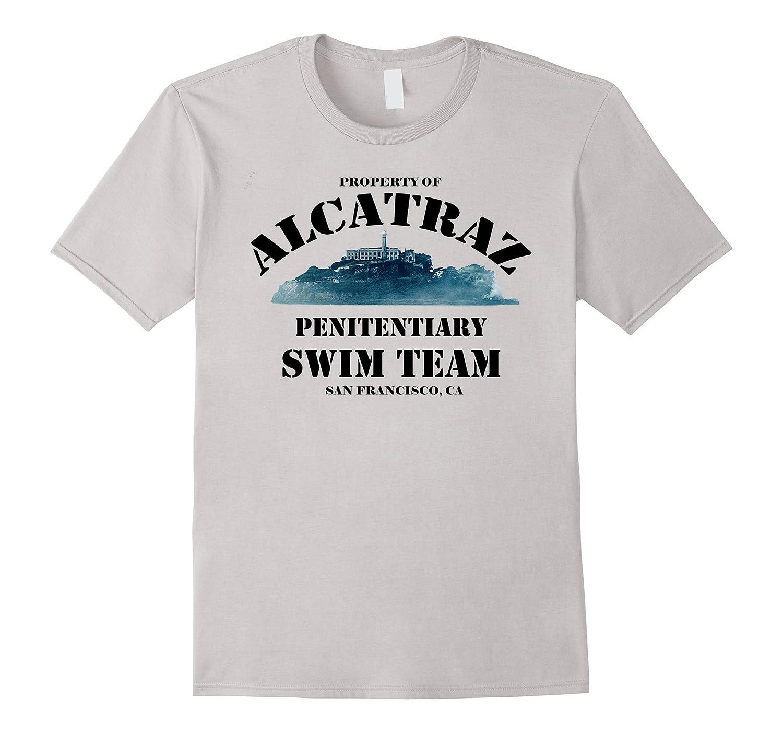 Property of Alcatraz, Retro, Swim Team, Funny T-Shirt-FL