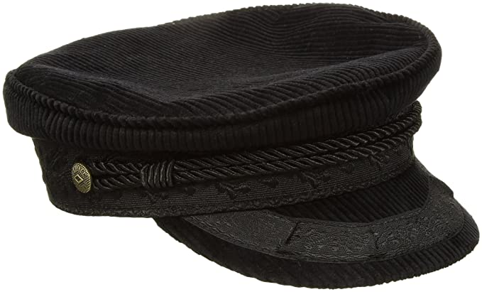 ce1b1fe7540 Brixton Mens Albany Greek Fisherman Hat Newsboy Cap - Black ...