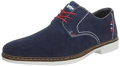 RIEKER Halbschuhe in dunkelblau Schuhe Leder, spitzen laufen