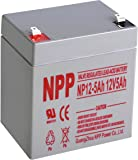 NPP 12V 5 Amp NP12 5Ah Rechargeable Sealed Lead Acid Battery F1 Terminals
