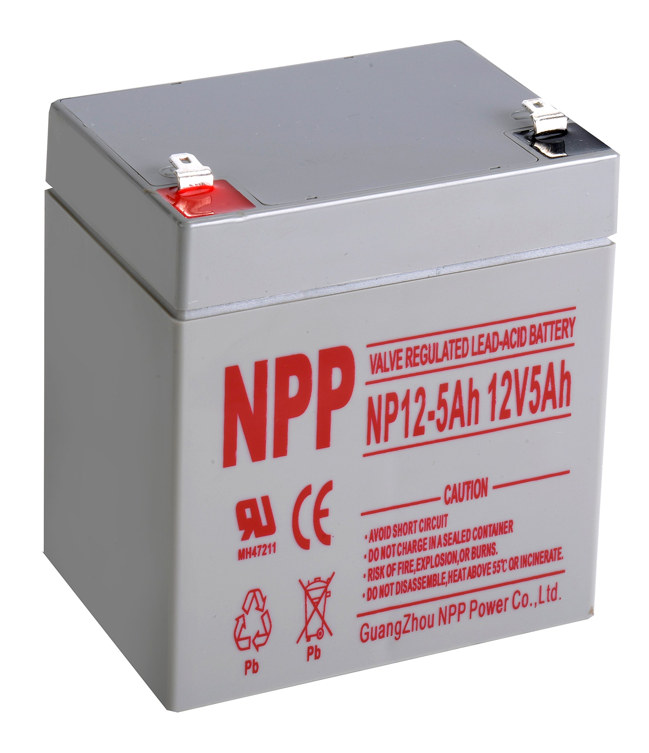 NPP NP12-5Ah 12V 5Ah Rechargeable Sealed Lead Acid Battery F1 Terminals