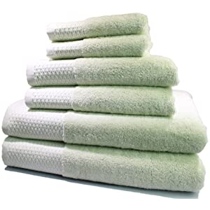 Vila Vaste 6-Piece Bamboo Bath Towel Set (Light Green)