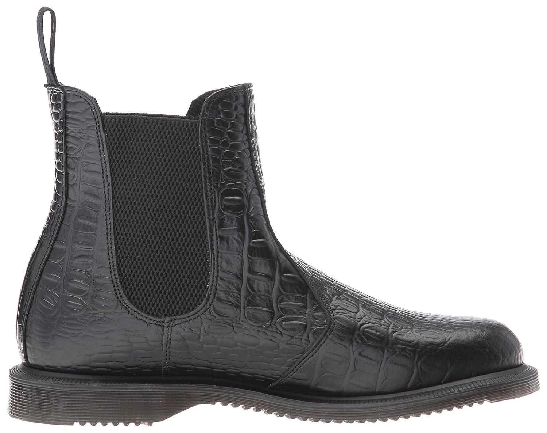 Dr. Martens Women's Flora Croc Chelsea Boot B01N4J119L 3 Medium UK (5 US) Black