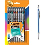 BIC Xtra-Precision Mechanical Pencil, Metallic Barrel, Fine Point (0.5mm), 24-Count