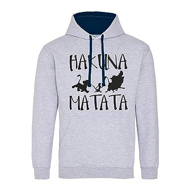 Hakuna Matata No Problems Disney King Lion Premium Sudadera con Capucha Unisex: Amazon.es: Ropa y accesorios