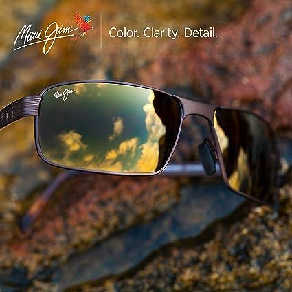 ffe25b49bd Maui Jim Castaway R18702C Sunglasses - Size  63--17--130 - Color  Dark  Gunmetal  Amazon.co.uk  Clothing