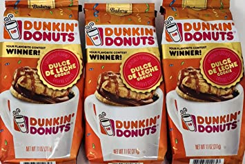 Dunkin Donuts Dulce De Leche Cookie Ground Coffee (Pack of 3) - 11 oz