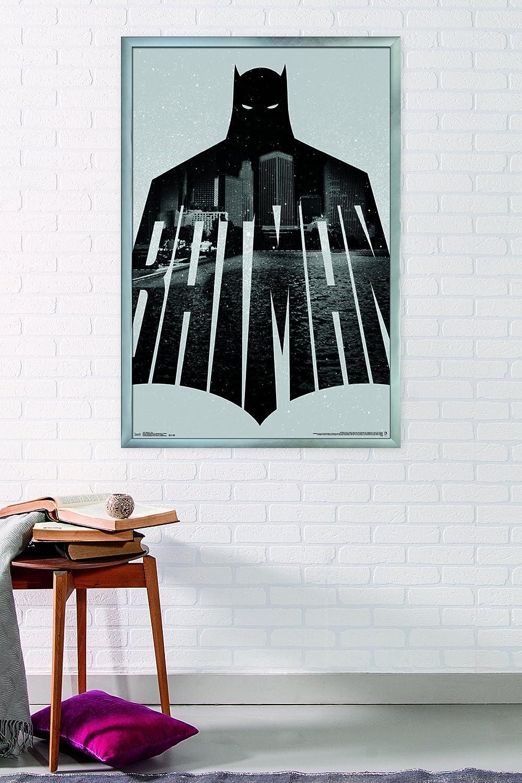 22.375 x 34 FR14547BLK22X34 Trends International Wall Poster Batman Text