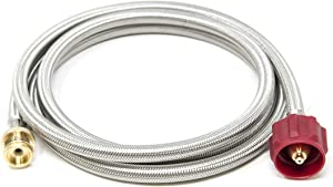GasOne 8 ft Propane Hose 1lb to 20lb Adapter Hose -16.4 oz to 20 lb Propane Tank Adapter Hose QCC1/ Type 1