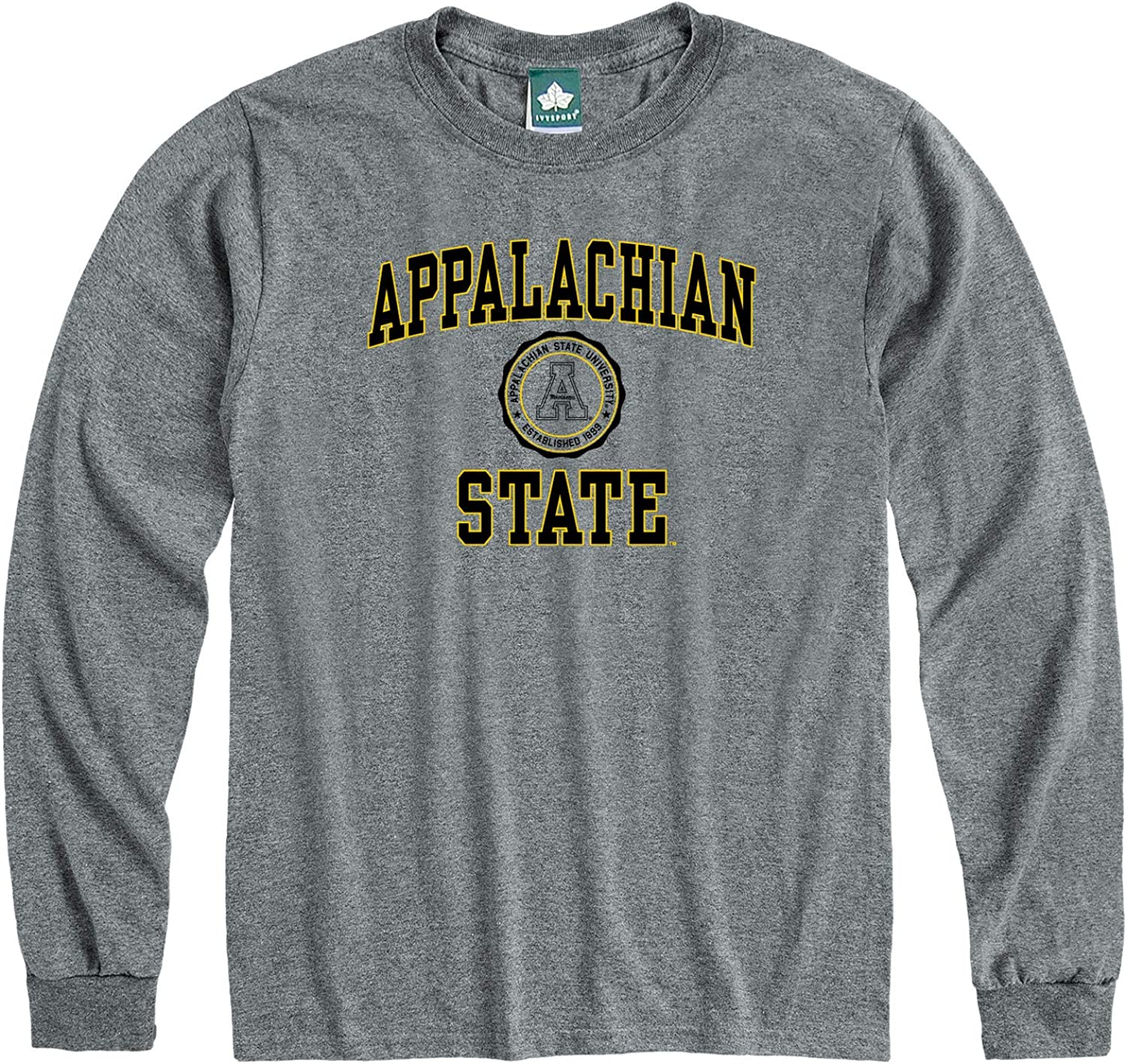 Grey NCAA Colleges and Universities Heritage Logo Ivysport Long Sleeve Cotton Adult T-Shirt