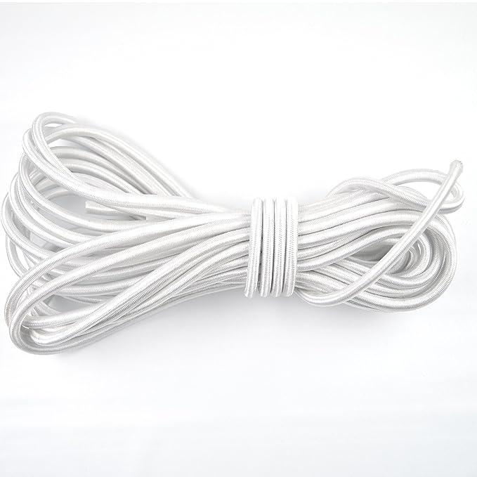 15-100ft Feet Variations Powersport Parts 2 U Marine Masters 3//8 Black Bungee//Shock Cord Tie Down Trailer Strap Crafting Stretch String 20 Feet