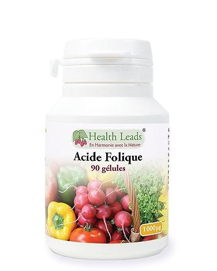 Acide folique x 90 gélules  Amazon.fr  Hygiène et Soins du corps 78b955a10d5