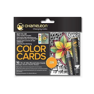 fournir beaucoup de nouvelle arrivee Découvrez pas cher Chameleon CHM02202 Lot de 16 cartes Zen à colorier ...
