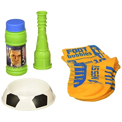 Leo Messi FootBubbles Starter Pack - Practice Your Soccer Juggling Skills with These Bubbles Designed to be juggled with Your feet Like a Soccer Ball. Imitate Messi's Soccer Juggling with FootBubbles: Toys & Games