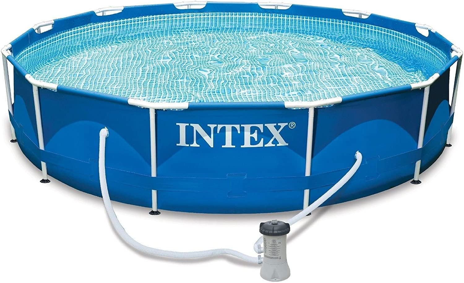 Intexi Intex Family Swimming Pool With Metal Frame 366 X 84 Cm Swimming Pool Set With Filter Pump And Accessories Amazon Co Uk Garden Outdoors