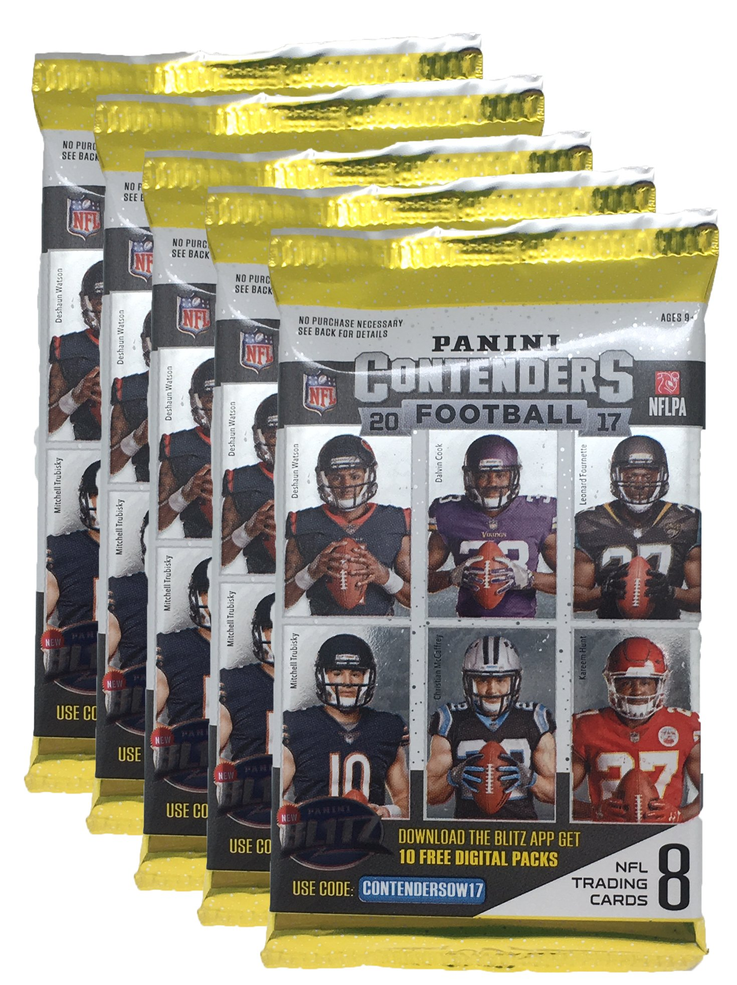 2017 NFL Panini Contenders Football Cards Factory Sealed Blaster Box 1 Autograph or Memorabilia Per Box