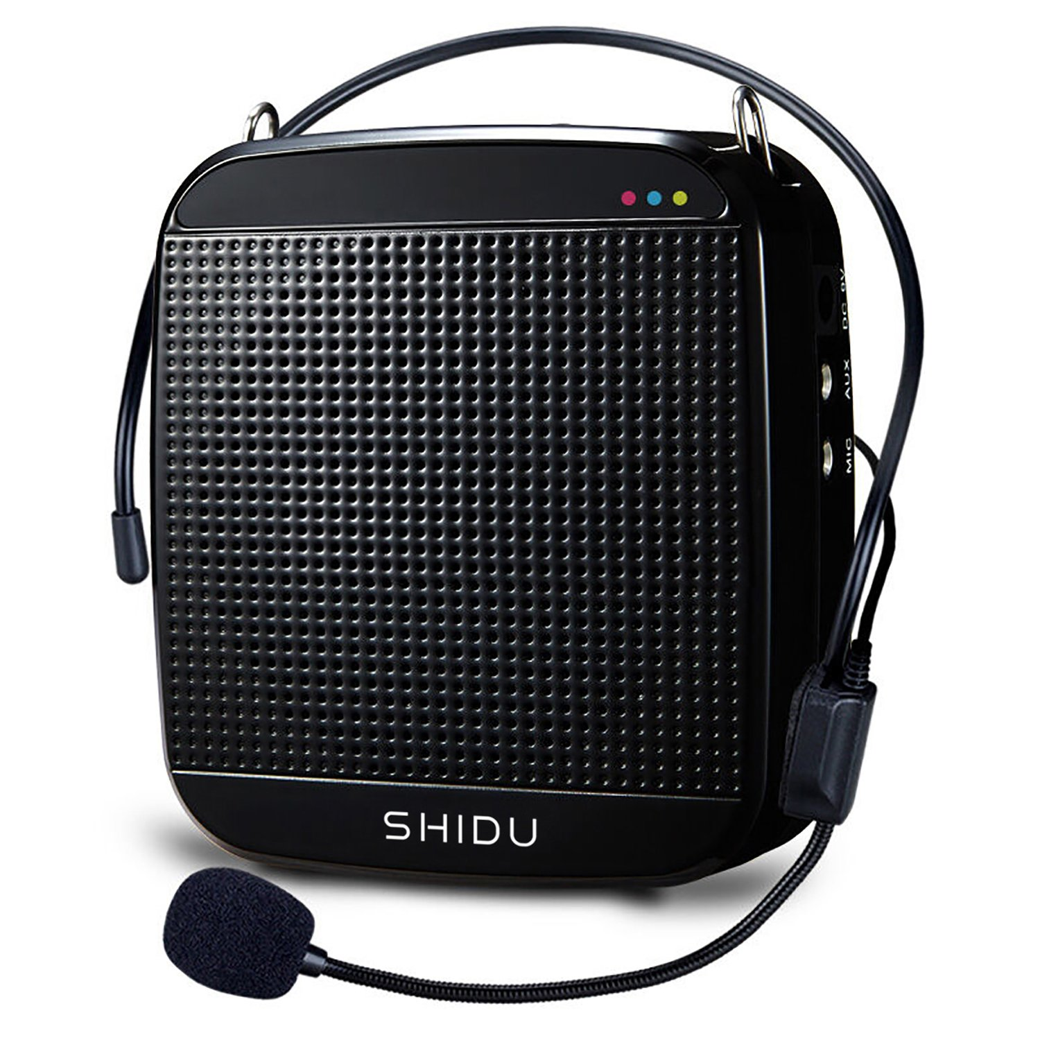 Voice Amplifier SHIDU M600 High-Power 15W Rechargeable Ultralight Portable Speaker with Loud Clear Sound for Teachers, Support MP3 Playing and Headset