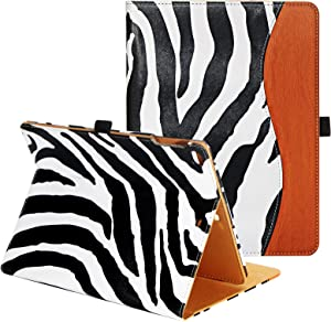 CASIRENA Zebra iPad Case 9.7 for iPad Air 2/Air 1/6th/5th Generation, iPad 9.7 Leather Cover for iPad 6/5 Gen, Cover for iPad 9.7 (2018/2017/2014/2013 Released), Pencil Holder&Corner Protect