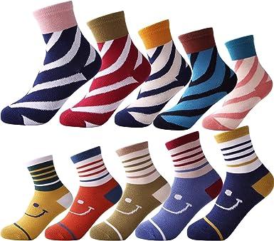 Amazon.com: 10 Pairs Kids Boys Casual & Dress Socks Girls Fashion Cotton  Toddlers Boys Socks For Baby Sports Sock(Stripe, 7-11Years): Clothing