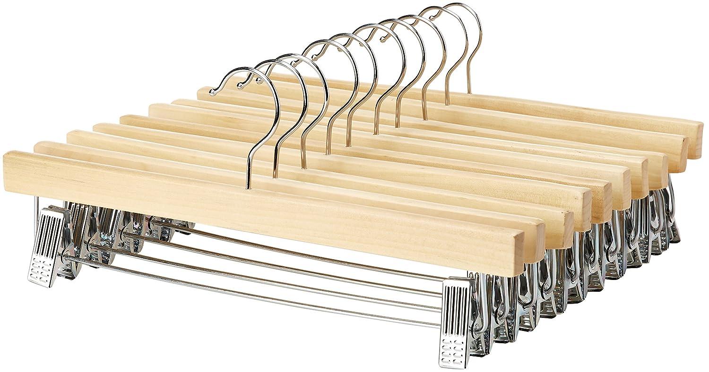 AmazonBasics, Appendiabiti in legno, con pinze, Confezione da 10 B00IXME1K2/B00IXME0HQ