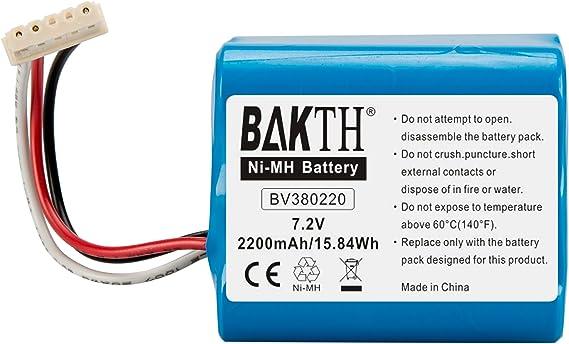 BAKTH Batterie de rechange Ni MH 3000mAh pour Aspirateur