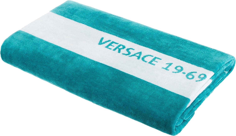 90x180 cm Colore: Turchese Telo da Mare Versace 19.69 Abbliglianmento Sportivo SRL Telo da Bagno Telo per Sauna di Brandsseller 100/% Cotone ca