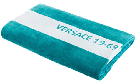 Versace 19.69 Abbliglianmento Sportivo SRL Toalla de baño Toalla de Playa Toalla de Sauna de Marca 100% algodón Aprox. 90x180 cm Color Turquesa: Amazon.es: ...
