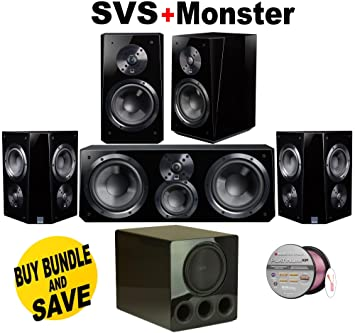 SVS Ultra Bookshelf Speaker Pair Piano Gloss Center
