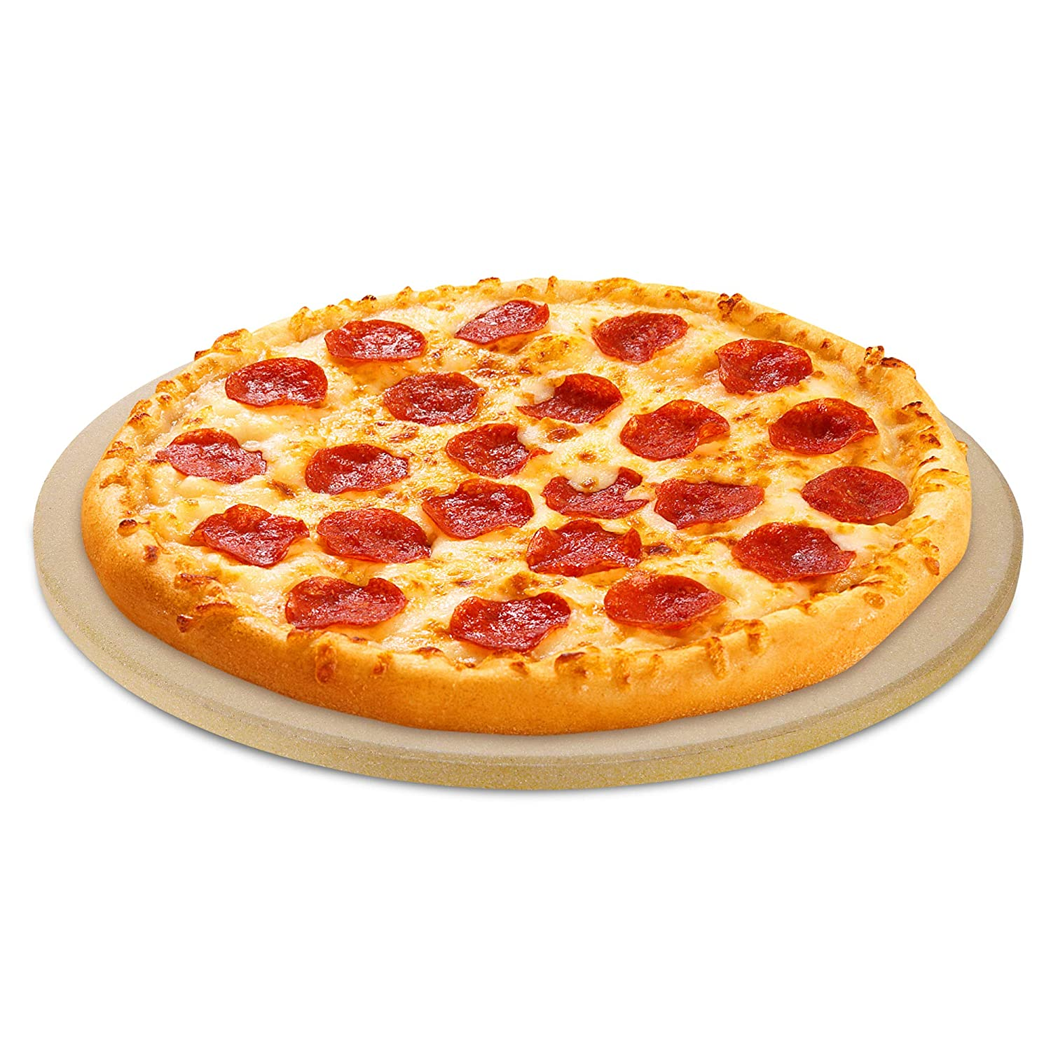 UNICOOK Small Pizza Stone, 10.25 Inch Round Pizza Grilling Stone, Baking Stone, Perfect Size for Personal Pizza, Ideal for Baking Crisp Crust Pizza, Bread, Cookies and More, Durable and Safe