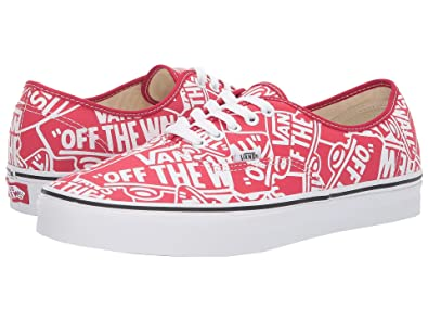 4dbc22e346 VANS Authentic (OTW RPT) RED True White Size 5.5 M US Women