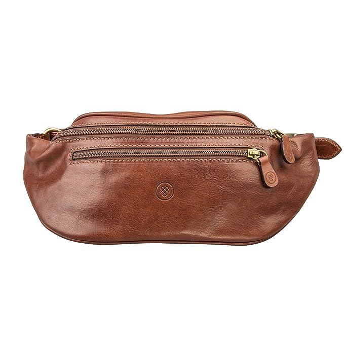 ec2fbc1b40 Maxwell-Scott® Luxury italian Leather Tan Fanny Pack (The Centolla): Maxwell  Scott: Amazon.co.uk: Clothing