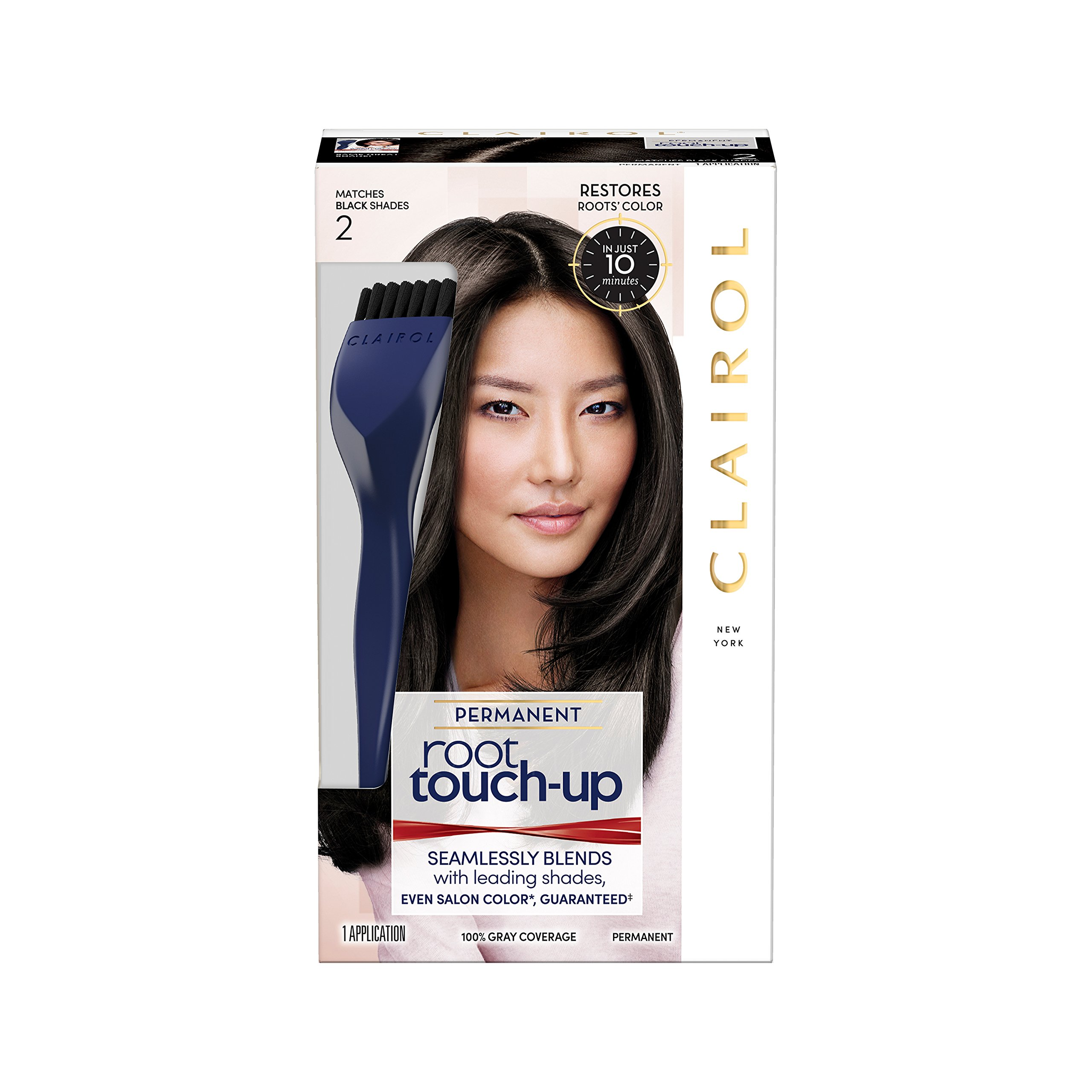 Clairol Root Touch-Up Permanent Hair Color Creme, 2 Black, 2 Count by Clairol