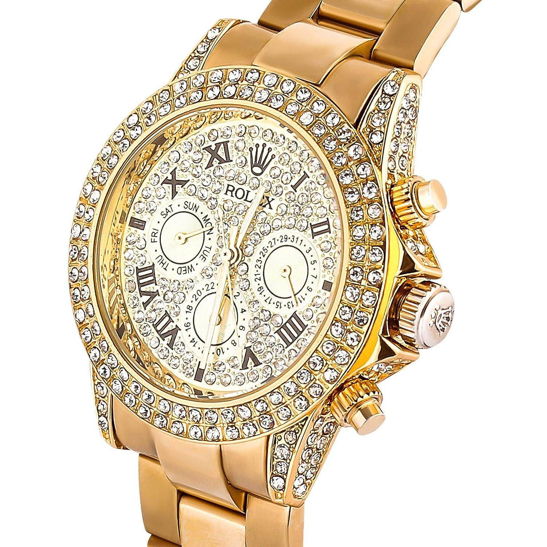 Buy Ethos Watch Luxury Diamond Zoom White Dial Men\u0027s Watch