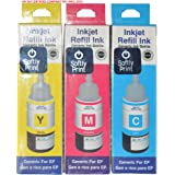 Softly Print Epson 664 Multicolor Ink Bottle  Yellow, Magenta, Cyan Pack of 3