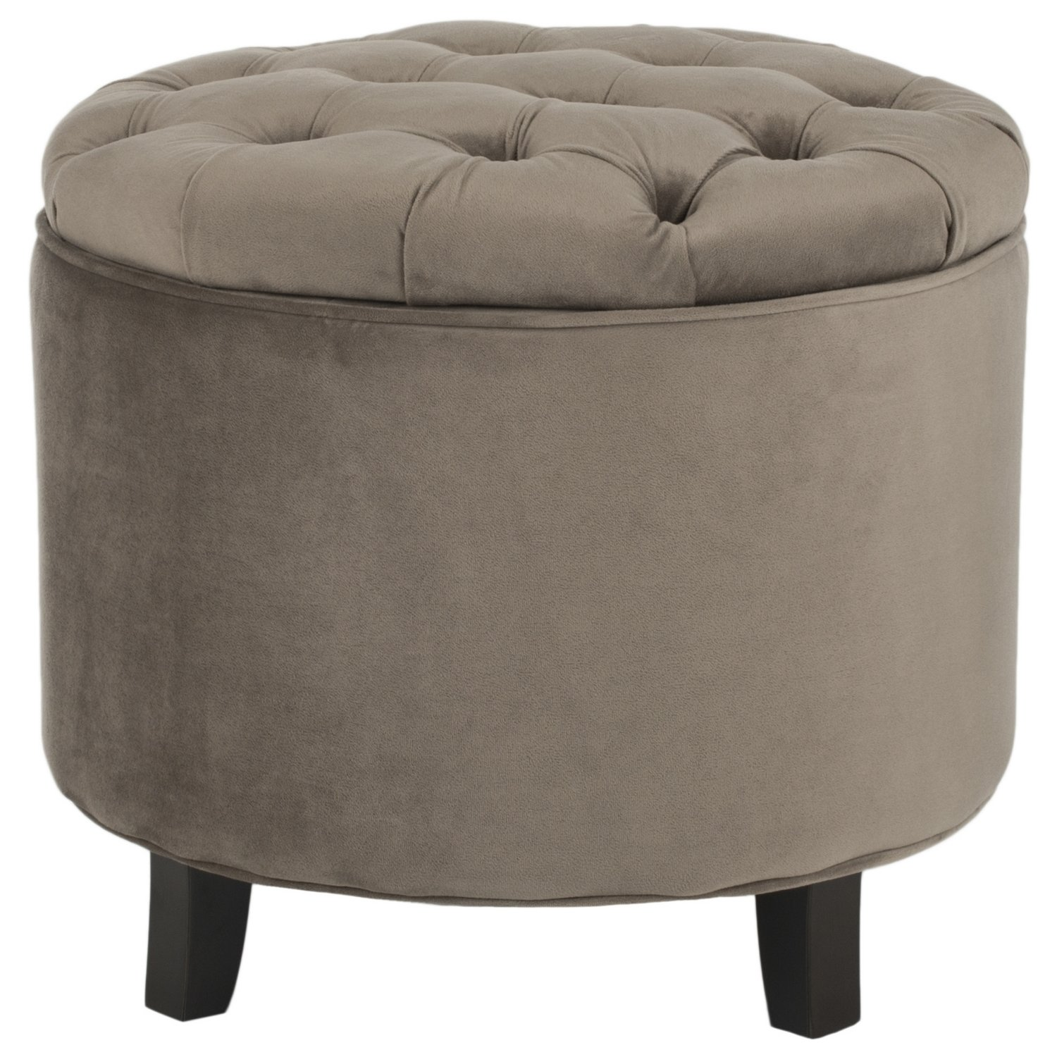 amazoncom safavieh hudson collection amelia tufted storage  - amazoncom safavieh hudson collection amelia tufted storage ottomanmushroom taupe kitchen  dining