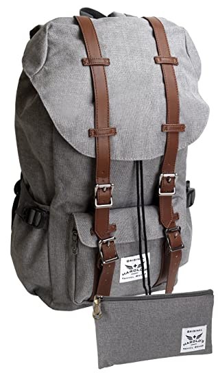 f9451e65c211d HAROLD S Großer Rucksack Damen Herren Laptop 15 quot  Notebook Backpack für  Uni Schule Wandern Reise (