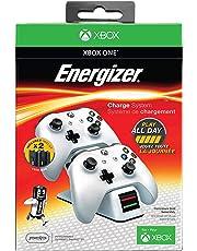 PDP - Cargador Energizer 2 Mandos, Color Blanco (Xbox One)
