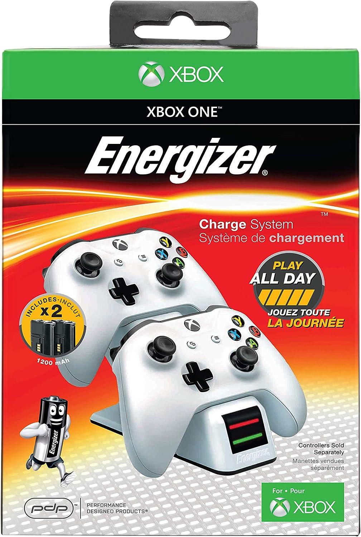 PDP - Cargador Energizer 2 Mandos, Color Blanco (Xbox One): Amazon ...
