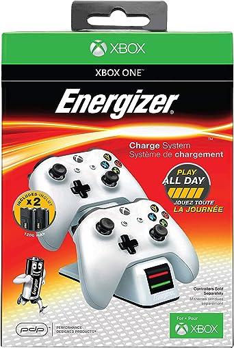 PDP - Cargador Energizer 2 Mandos, Color Blanco (Xbox One): Amazon.es: Videojuegos