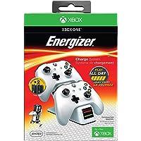 Energizer Chargeur de manettes 2 x avec batterie rechargeable sans fil pour Xbox One - blanc