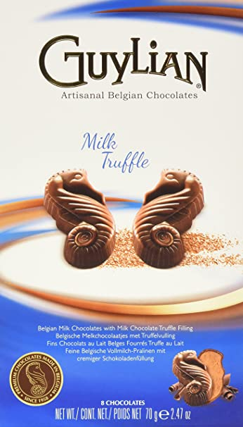 Guylian Belgium Chocolates Milk Chocolate Seahorse Truffle, Milk Chocoalte Filling, 2.47 Ounce