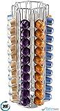 80 Nespresso Coffee Capsule Rotating Chrome Holder KRUPS Stand Rack Dispenser Unbeatable Quality Guaranteed | Babavoom® N80