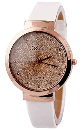 730f11731f1 Buy Aelo White Strap Analog Rose Gold Dial Women s Watch - Www1045 ...